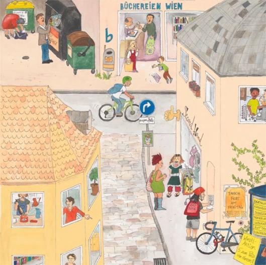 Wimmelbild: Ausschnitt. © www.abfall.wien.at