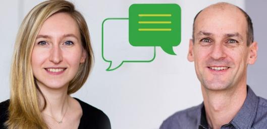 Bianca Pfefferer und Gerhard Bayer (ÖGUT)